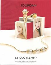 PUBLICITE ADVERTISING 2011 Les Bijoux JOURDAN Bagues et Colliers