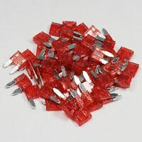 50 x 10 Amp Red Mini Blade Fuse 10A Amps A ATM Grey Auto Car Van Bike Fuses