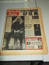 MELODY MAKER 1971 JANUARY 16 ELP JOE COCKER JOHNNY WINTER PETE TOWNSHEND