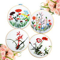 10cm Bamboo Frame Embroidery Hoop Ring DIY Cross Stitch Machine Loop Sewing EB