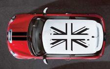 UK Flag British Mini Cooper Graphic Decal Sticker Distressed Top Vehicle Vinyl
