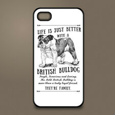 British Bulldog dog phone case cover Apple iPhone Samsung Galaxy ~ Personalised