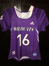 Northwestern University Wildcats Game Worn Lacrosse Jersey Adidas #6 WM CASSERA