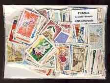 France commémoratifs grands formats 400 timbres différents oblitérés