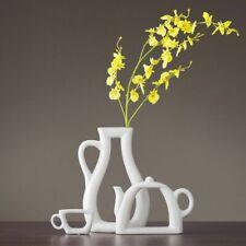 3PCs Set Ceramic Vase Flower Teapot Nordic Modern Living Room Study Decoration
