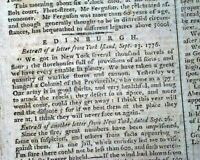 NATHAN HALE HANGING Hanged Revolutionary War American Soldier Spy 1776 Newspaper