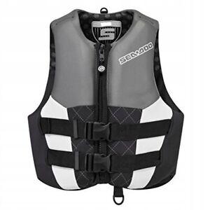 Sea-Doo New OEM Womens AirFlow PFD Life Vest Jacket Neoprene XL Black 9003431290
