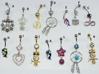 Belly Button Ring Fashion Dangle 14G Body Navel Piercing Barbell Jewelry