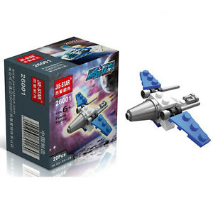 For Kids Children Building Blocks 22 Pcs MINI Plane Bricks Plastic Toys 3D Set