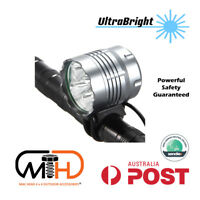Rechargeable CREE XML 25w LED Bicycle Headlight Light Front Bike lamp Rear Flash