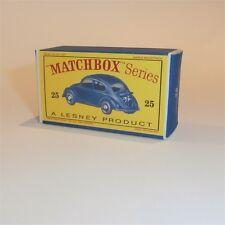 Matchbox Lesney 25 b Volkswagen VW 1200 Sedan Empty Repro D Style Box