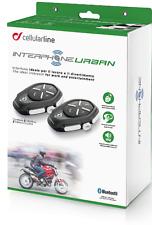 kit doppio cellularline interphone interfono urban twin pack per moto e scooter