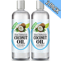 Fractionated Coconut Oil - 100% Pure Carrier Therapeutic Grade Oil 16oz (2 Pack)