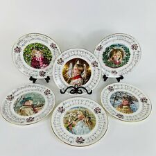 Complete Set Of 6 Royal Doulton Christmas Carol Collection Collector Plates Mint