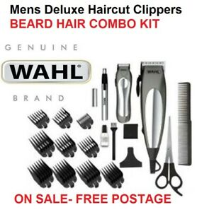 Wahl Deluxe Haircut Clippers Shaver Set with Cordless Beard Nose Ear Trimmers