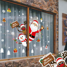 Santa Sticker Snowflakes Christmas Window Clings Decal Stickers Xmas Window CY2