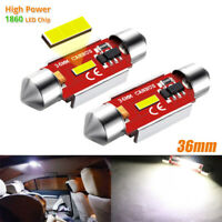 2x 36mm Festoon Canbus 1860 SMD LED Car Interior Dome Map Light Bulb Lamp 12V