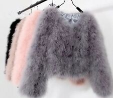 READ DESC Ostrich Feather Jacket 24 Colours S M L XL 2, 3 & 4XL Marabou Fur Coat
