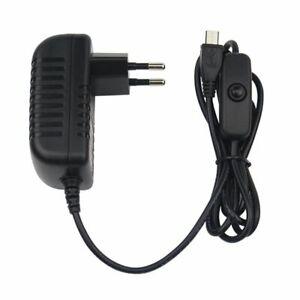 Micro USB 5V 3A Netzteil für alle Raspberry Pi 3 und Raspberry Pi 2 mit Schalter
