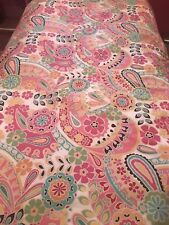 Pottery Barn PB Teen Pink Paisley Floral Cotton Duvet Size Twin