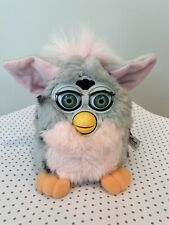 Hasbro Furby 1998 New With Tag -grey pink, black spots -parts only