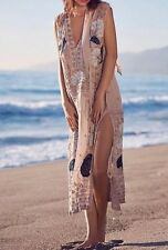 NWT $498 FREE PEOPLE Pennies Stuck on You Embellished Beaded Maxi Sheer Dress Sm