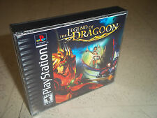 The Legend of Dragoon.PS1 NTSC vides de remplacement CASE + incrustations seulement.