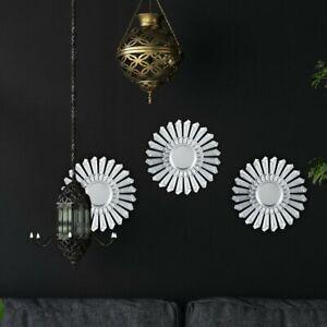 Starburst Wall Mirror Set (Set of 3) - Silver - Mid Century Style