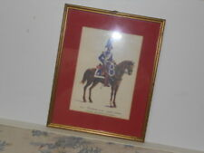 Vtg. Italian Military Museum Carabiniere a Cav. 1834 Grande Montura Framed Print