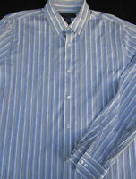 Banana Republic Mens Button Front Long Sleeve Stripe Cotton Shirt Large L