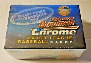 2000 Bowman Chrome Draft Picks & Prospects Set MLB Baseball Sealed Set Beauty!!!
