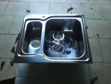 Lavello Acciaio Inox Satinato MATICO 3 58X50 2 Vasche