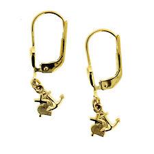 Ohrringe Glaube Kreuz Liebe Herz Hoffnung Anker Ohrhänger Hänger Echt Gold 333