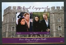 Guyana 2017 MNH Prince Harry & Meghan Royal Engagement 2v S/S Royalty Stamps