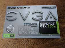 EVGA GEFORCE GTX 750 Ti FTW 2GB SUPERCLOCKED ACX PCI-E NVIDIA VIDEO GRAPHIC CARD