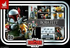 Boba Fett Star Wars 40th Anniversary Empire Strikes Back 1 6 Hot Toys in Hand