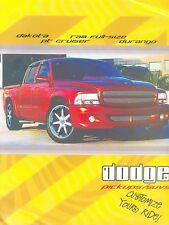 Dodge Pickups SUV's Accessories Prospekt 2003 brochure Autoprospekt Auto Pkw Car