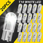 20X T10 194 168 W5W 2825 COB LED License Plate Interior Light Bulbs 6000K White