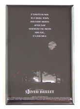 Silver Bullet FRIDGE MAGNET (2 x 3 inches) movie poster stephen king