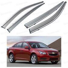 4x Front & Rear Window Visor Deflectors Vent Shade for Chevrolet Cruze 2009-2015