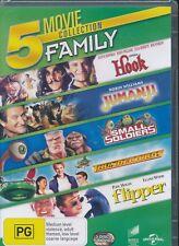 5-movie Hook Jumanji Small Soldiers Thunderbirds Flipper DVD NEW Region 4