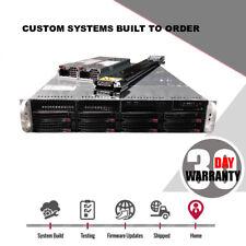 Supermicro Server SAN Storage 2U 8 Bay SAS2 UNRAID JBOD FREENAS ZFS 2x 6 Core