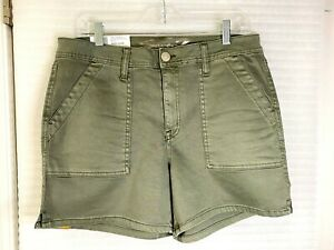 """Seven7 Womens 5"""" Inseam Front Patch Pockets Soft Touch Twill Utility Shorts NWT"""