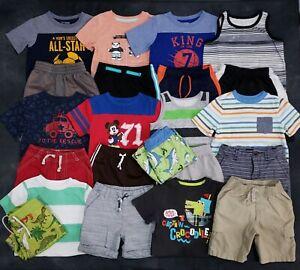 Boy's 3T Summer Outfits Shirts And Shorts Sets Lot