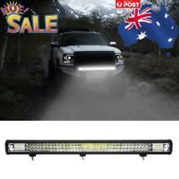 31inch LED Light Bar Triple Row Combo Beam Work Driving Off Road Lamp Flood Spot