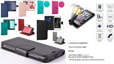 Custodia per WIKO Y80 (W-V720) Cover LIBRO stand magnetica portafoglio + VETRO