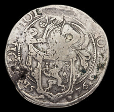 NETHERLANDS, Holland. Silver Lion Daalder, 1576, Classic Dutch trade dollar