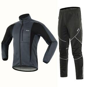 Men Winter Cycling Jacket Suits Windproof Waterproof Bicycle Pants Bike Sets