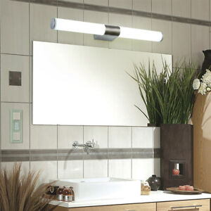 Bathroom Front Mirror Vanity LED Fixture Light Modern Acrylic Toilet Wall Lamp