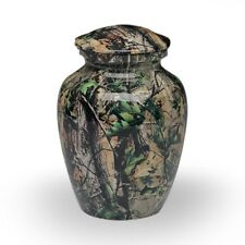 Camouflage Alloy Cremation Urn - MEDIUM- 2nd Quality - Free Shipping - A-1981-M